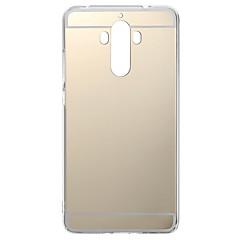 Недорогие Кейсы для Huawei других серий-Кейс для Назначение Huawei Honor 4X / Huawei Honor 7 / Huawei P9 Покрытие / Зеркальная поверхность Кейс на заднюю панель Однотонный Мягкий ТПУ для P10 Lite / P10 / Huawei P9 Plus