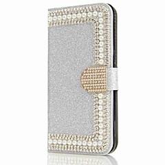 Case Kompatibilitás Samsung Galaxy S8 Plus S8 Pénztárca Kártyatartó Strassz Állvánnyal Flip Mágneses Teljes védelem Kemény mert S8 S8