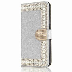 billige Galaxy S6 Edge Etuier-Etui Til Samsung Galaxy S8 Plus S8 Pung Kortholder Rhinsten Med stativ Flip Magnetisk Heldækkende Hårdt for S8 S8 Plus S7 edge S7 S6 edge