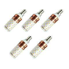 baratos Lâmpadas de LED-5pçs 8W 800lm E14 Lâmpadas Espiga T 60 Contas LED SMD 2835 Branco Quente Branco