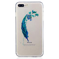 Voor apple iphone 7 7 plus 6s 6 plus se 5s 5 veren patroon geverfd hoge penetratie tpu materiaal imd proces soft case telefoon hoesje