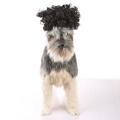 Kat Hond Pruiken Hondenkleding Feest Casual/Dagelijks Cosplay Nieuwjaar Halloween Kerstmis Effen Zwart