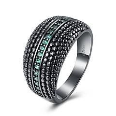 お買い得  指輪-女性用 指輪 合成オパール キュービックジルコニア オリジナル 幾何学図形 ユニーク クラシック ヴィンテージ ボヘミアンスタイル ベーシック 友情 クロスオーバー ファッション パンク 愛らしいです ヒップホップ かわいいスタイル 欧米の トルコ語 シンプルなスタイル