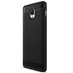 お買い得  その他のケース-ケース 用途 OnePlus / ワンプラス3 つや消し バックカバー ソリッド ソフト カーボンファイバー のために One Plus 3T / One Plus 3 / OnePlus
