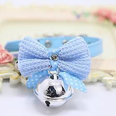 お買い得  犬用首輪/リード/ハーネス-ネコ 犬 カラー ベル ソリッド PUレザー フクシャ ブルー ピンク