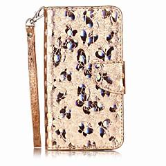 voordelige Hoesjes / covers voor Xiaomi-Case voor xiaomi redmi note 4 note 3 case cover kaarthouder flip patroon full body case vlinder glitter glans hard pu leer