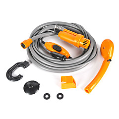 abordables Herramientas de Limpieza-12v enchufe del coche eléctrico campista al aire libre caravana de la camioneta viaje ducha kit limpio
