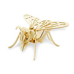 رخيصةأون -قطع تركيب3D تركيب النماذج الخشبية ديناصور طيارة حيوان 3D اصنع بنفسك خشبي خشب كلاسيكي 6 سنوات فما فوق