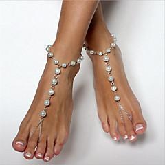 お買い得  ボディージュエリー-真珠 ベアフットサンダル  -  人造真珠 ボール型 ファッション シルバー 用途 日常 / アウトドアウェア / お出かけ / 女性用
