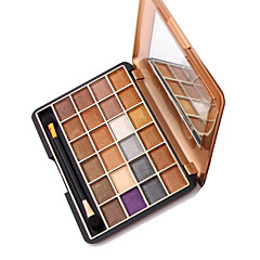 24 Paleta de Sombras Secos Paleta da sombra Pó Maquiagem para o Dia A Dia