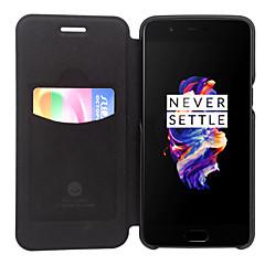 お買い得  その他のケース-ケース 用途 OnePlus ワンプラス3 カードホルダー フリップ フルボディーケース 純色 ハード PUレザー のために One Plus 5 One Plus 3 One Plus 3T OnePlus