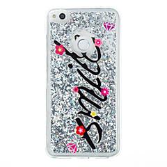Til huawei p9 lite p8 lite case brevet brev mønster flash pulver quicksand tpu materiale telefon taske p8 lite (2017)