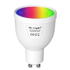 お買い得  LED 電球-BRELONG® 1個 5 W 500 lm GU10 LEDスマート電球 A60(A19) 12 LEDビーズ SMD 5730 赤外線センサー / 調光可能 / リモコン操作 温白色 / RGB 85-265 V / 1個