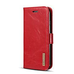Недорогие Кейсы для iPhone-Кейс для Назначение Apple iPhone X iPhone 8 Plus Бумажник для карт со стендом Флип Магнитный Чехол Сплошной цвет Твердый Кожа PU для