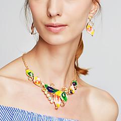 Dam Halsband / örhängen Uttalande Halsband Mode kostym smycken Resin Legering Blomma Form Dekorativa Halsband Örhängen Till Party