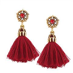 preiswerte Ohrringe-Damen Tropfen-Ohrringe - Personalisiert, Quaste, Böhmische Schwarz / Grau / Rot Für Hochzeit / Jahrestag / Einweihungsparty