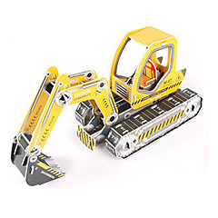 ieftine -Puzzle 3D Puzzle Μοντέλα και κιτ δόμησης Excavator 3D Reparații Hârtie de înaltă calitate Clasic Excavator Pentru copii Fete Băieți Unisex