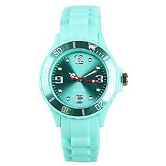 preiswerte Damenuhren-Damen Armbanduhr Japanisch / Silikon Band Freizeit / Modisch Grün