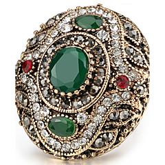 preiswerte Ringe-Damen Kristall Statement-Ring / Ring - Harz, Strass Personalisiert, Luxus, Einzigartiges Design 7 / 8 / 9 Rot / Grün Für Weihnachten / Weihnachts Geschenke / Hochzeit