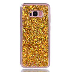 Przypadku samsung galaxy s8 plus s8 obudowa telefonu akrylowy przebarwiony flash proszku telefon skrzynka s7 krawędź s7 s6 krawędź s6 s5