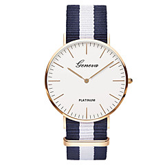 お買い得  メンズ腕時計-Geneva 男性用 リストウォッチ クォーツ ナイロン バンド ハンズ ぜいたく ヴィンテージ カジュアル ブラック / ブラウン - グリーン ピンク ホワイト / レッド 1年間 電池寿命 / SSUO 377