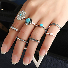 Women's Band Rings Ring Cuff Ring Geometric Fashion Punk Personalized Hip-Hop Rock Euramerican Costume Jewelry Metal Alloy Resin Mixed