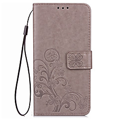 Case For Huawei Honor 6x 8 Case Cover Card Holder Wallet with Stand Flip Embossed Full Body Case Solid Color Flower Hard PU Leather for Honor 7 V8 V9
