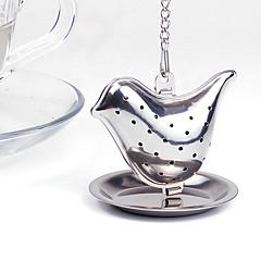 1 db madár tea táska rozsdamentes acél fém textúra tea infuser