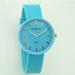 voordelige Dameshorloges-Dames Modieus horloge Vrijetijdshorloge Kwarts Vrijetijdshorloge Silicone Band Informeel Zwart Wit Blauw Roze