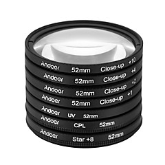 Andoer 52mm UV CPL Star8Close-up (1 2 4 10) Photography Filter Ultraviolet Circular-Polarizing Star 8-Point Macro Close-up Lens Filter