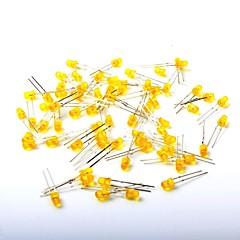 abordables Diodos-Diodo emisor de luz llevado luz amarilla de 3m m (1000pcs)
