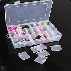 abordables Almacenamiento de Joyería y Maquillaje-El plastico Con Tapa Casa Organización, 1 juego Almacenamiento de Maquillaje Cajas de Joyería Organizadores de Joyas Cajas de