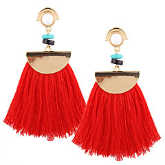 cheap Women's Jewelry-Women's Drop Earrings / Pendant / Dangle Earrings - Personalized, Luxury, Geometric Red / Pink / Lake Blue For Christmas / Christmas Gifts / Wedding / Tassel