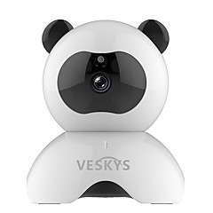 Veskys® 960p smart panda wifi ip camera de supraveghere de securitate (1.3mp hd / 2017 model panda drăguț)