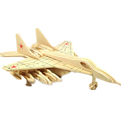 رخيصةأون -لعبة سيارات قطع تركيب3D تركيب النماذج الخشبية طيارة المقاتل 3D اصنع بنفسك خشب كلاسيكي صبيان للجنسين هدية