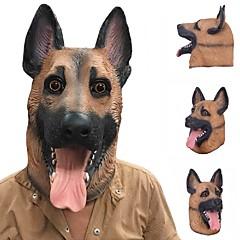 Χαμηλού Κόστους -Νέο δροσερό σκυλί λύκος πλήρη μάσκα προσώπου αποκριές δώρα οικολογικό φιλικό φύση λάτεξ ρεαλιστική μάσκα κεφαλή σκυλί για cosplay κόμμα