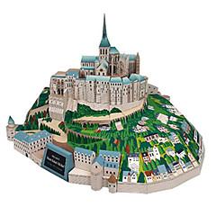 voordelige -3D-puzzels Bouwplaat Modelbouwsets Vierkant Beroemd gebouw Architectuur DHZ Hard Kaart Paper Klassiek Alle leeftijden