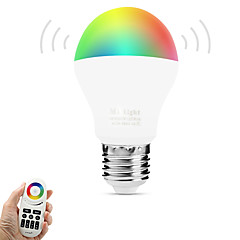 6W E27 LED Smart Bulbs A60(A19) 14 leds SMD 5050 Infrared Sensor Dimmable Remote-Controlled WIFI Light Control Warm White RGB Dual Light