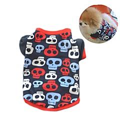 お買い得  犬用ウェア&アクセサリー-ネコ 犬 コート Tシャツ スウェットシャツ 犬用ウェア スカル ブラック 迷彩色 フリース コスチューム ペット用 女性用 パーティー カジュアル/普段着 保温