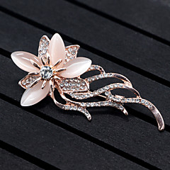 cheap Women's Jewelry-Women's Floral Flower Synthetic Opal Brooches - Floral / Flower Style / Flowers Animal Gold Brooch For Wedding / Party / Special Occasion