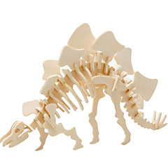 voordelige -3D-puzzels Legpuzzel Houten modellen Dinosaurus Vliegtuig Beroemd gebouw Architectuur 3D DHZ Hout Klassiek Unisex Geschenk