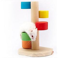 tanie -Chomik Drewniany Zabawki Tęczowy