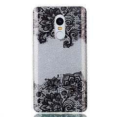 Caso para xiaomi redmi 4a nota 4x caso duplo duplo capa traseira caso padrão preto padrão de flor macio tpu redmi 3s