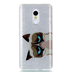 Til Etuier IMD Bagcover Etui Kat Dyr Glitterskin Hårdt TPU for Xiaomi Xiaomi Redmi Note 4X Xiaomi Redmi 4a Xiaomi Redmi 3S