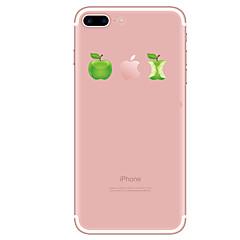 Недорогие Кейсы для iPhone 4s / 4-Кейс для Назначение Apple iPhone X / iPhone 8 / iPhone 8 Plus Прозрачный / С узором Кейс на заднюю панель Мультипликация Мягкий ТПУ для iPhone X / iPhone 8 Pluss / iPhone 8