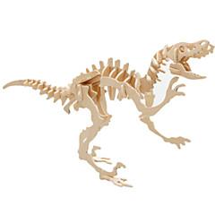 رخيصةأون -قطع تركيب3D تركيب النماذج الخشبية ديناصور طيارة بناء مشهور معمارية 3D اصنع بنفسك خشب كلاسيكي للجنسين هدية