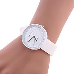 preiswerte Armbanduhren für Paare-Damen Armbanduhr Chinesisch Armbanduhren für den Alltag Silikon Band Süßigkeit / Freizeit / Modisch Schwarz / Weiß / Grün / Ein Jahr / SSUO 377