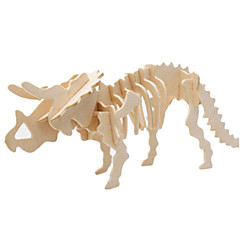 ieftine -Muwanzi Puzzle 3D Puzzle Modele de Lemn Dinosaur Aeronavă Clădire celebru Arhitectură 3D Reparații Lemn Clasic Unisex Cadou