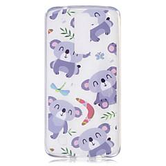 voordelige Hoesjes / covers voor LG-Hoesje voor lg h502 x power hoesje hoesje panda patroon geverfd hoge penetratie tpu materiaal imd proces zachte hoesje telefoon hoesje k8