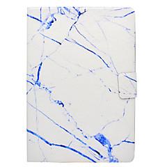 Til samsung galaxy t560 t530 cover marmor mønster pu materiale tre gange flad computer shell taske t550 t580 t350 t280 t330